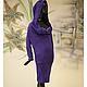 Большие размеры ручной работы. Платье-туника вязаное из мохера с капюшоном инапуском скрывает животик. Одежда для женщин шикарных размеров (seanna12). Интернет-магазин Ярмарка Мастеров.