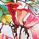 """Картины цветов ручной работы. Картина """"Дикая Роза"""" (холст, масло). ЯРКИЕ КАРТИНЫ Наталии Ширяевой. Ярмарка Мастеров. Шиповник"""