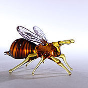 Для дома и интерьера ручной работы. Ярмарка Мастеров - ручная работа Стеклянная фигурка - пчела Мелисса. Handmade.