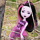 Коллекционные куклы ручной работы. Ярмарка Мастеров - ручная работа. Купить ООАК Розабелла Monster High. Handmade. Розовый