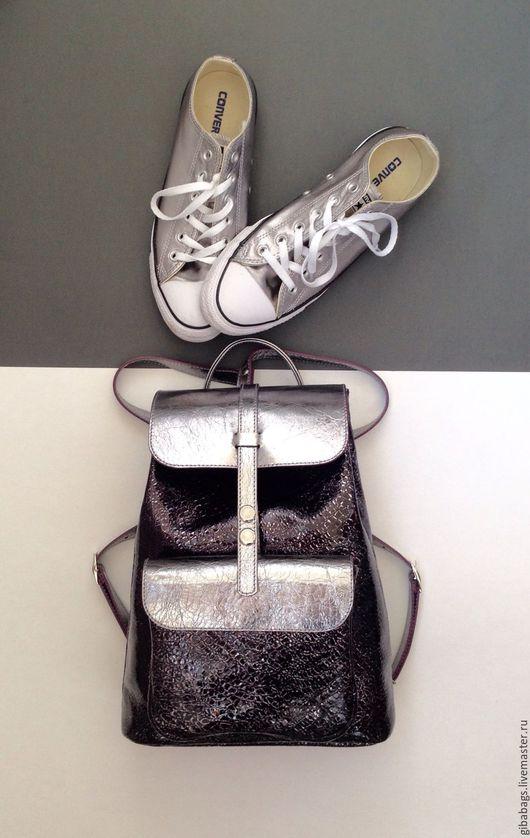 """Рюкзаки ручной работы. Ярмарка Мастеров - ручная работа. Купить Рюкзак """"GiBa"""" Ночной блик. Handmade. Рюкзак, рюкзак городской"""