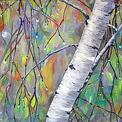 """Картины и панно ручной работы. Ярмарка Мастеров - ручная работа Картина """"Весна. После дождя"""". Handmade."""
