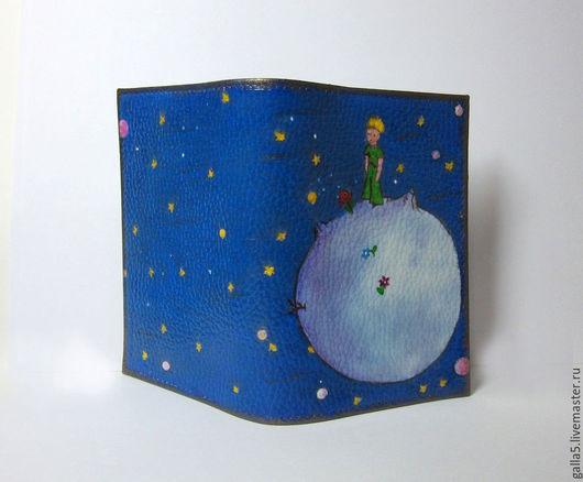 """Обложки ручной работы. Ярмарка Мастеров - ручная работа. Купить Обложка на паспорт """" Маленький принц """".. Handmade."""