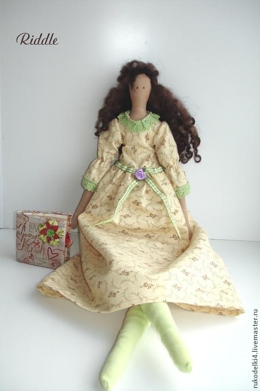 Куклы Тильды ручной работы. Ярмарка Мастеров - ручная работа. Купить Асенька. Handmade. Мятный, кудрявые волосы, хлопковое кружево