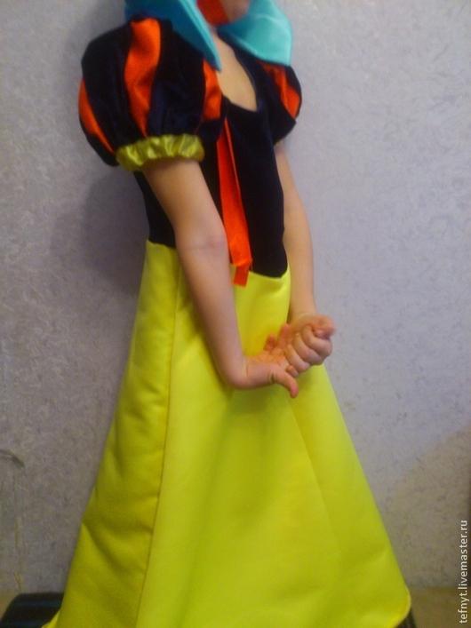Детские карнавальные костюмы ручной работы. Ярмарка Мастеров - ручная работа. Купить Белоснежка. Handmade. Тёмно-синий, атлас