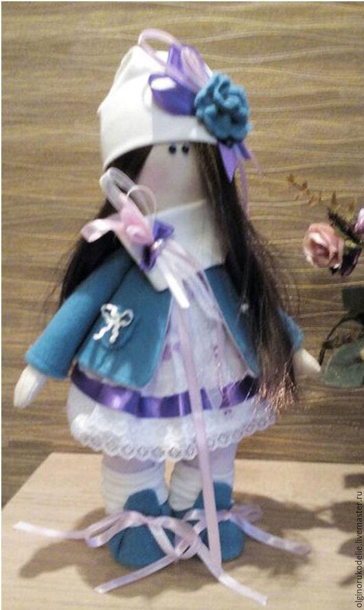 Куклы тыквоголовки ручной работы. Ярмарка Мастеров - ручная работа. Купить Текстильна кукла. Handmade. Бирюзовый, малышка берюза, трикотаж