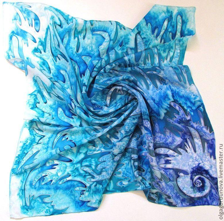 Batik scarf 'water Energy', Shawls1, Yaroslavl,  Фото №1