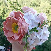 Цветы и флористика handmade. Livemaster - original item Bouquet Early in the morning. Flowers from polymer clay.. Handmade.