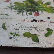 Для дома и интерьера ручной работы. Ярмарка Мастеров - ручная работа вешалка гербарий зеленые травы прованса листья. Handmade.