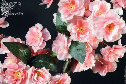 """Бонсай ручной работы. Ярмарка Мастеров - ручная работа. Купить Бонсай- зотти """"Розовый миндаль"""". Handmade. Бледно-розовый"""