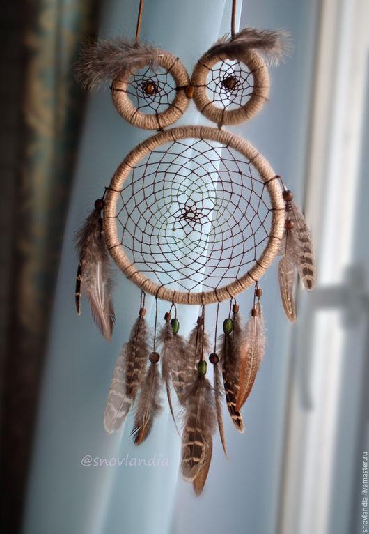 """Ловцы снов ручной работы. Ярмарка Мастеров - ручная работа. Купить Ловец снов """"OWL"""". Handmade. Бежевый, ловец"""