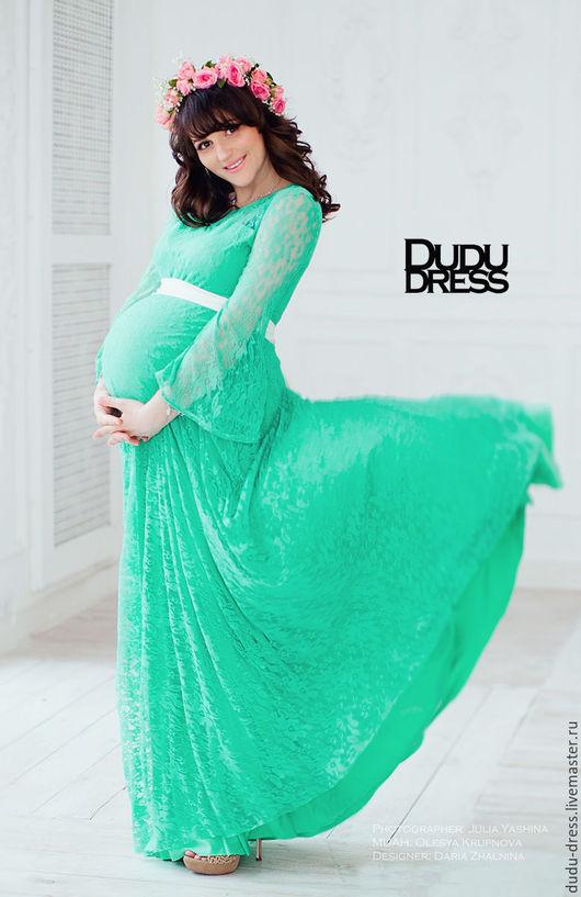 Для будущих и молодых мам ручной работы. Ярмарка Мастеров - ручная работа. Купить Платье для беременных мята. Handmade. Мятный