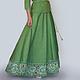 Юбка полусолнце из льна, льняная юбка, юбка ручной работы, юбка с кружевом, автор Юлия Льняная сказка