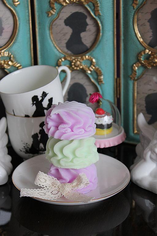 """Мыло ручной работы. Ярмарка Мастеров - ручная работа. Купить Мыло """"Зефирка"""". Handmade. Зефир, мыльный десерт, мыло сувенирное"""