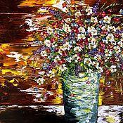 Картины и панно handmade. Livemaster - original item Summer oil bouquet for you. Handmade.