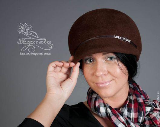 Кепки ручной работы. Ярмарка Мастеров - ручная работа. Купить кепи Копна. Handmade. Коричневый, велюр, шляпа для женщин