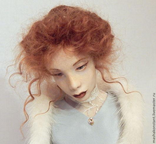 """Коллекционные куклы ручной работы. Ярмарка Мастеров - ручная работа. Купить Кукла  """"Нить судьбы"""". Handmade. Голубой, коллекционная кукла"""