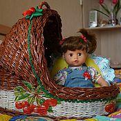 Куклы и игрушки ручной работы. Ярмарка Мастеров - ручная работа люльки- кроватки для кукол. Handmade.