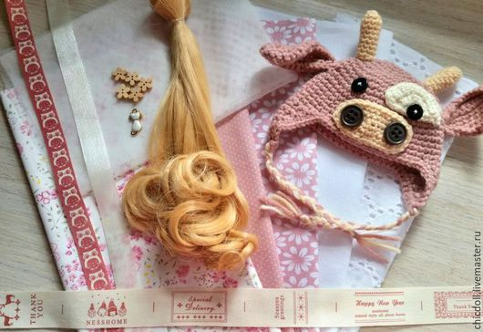 Куклы и игрушки ручной работы. Ярмарка Мастеров - ручная работа. Купить Набор для пошива куклы. Handmade. Бледно-розовый