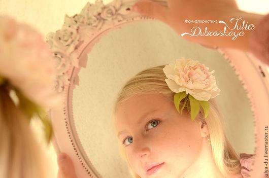 Прекрасный подарок к 8 марта - Заколка, заколка с цветами, заколка для волос, заколка, брошь гребень с цветами,Брошь с пионом, заколка для волос, заколка с цветами из фоамирана, фоамиран, заколки, заколка для девочки, заколка для невесты, брошь с цветком, украшение для волос, цветы из фоамирана, пион, Ручная работа. Юлия Дубровская.
