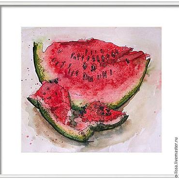 Картины и панно ручной работы. Ярмарка Мастеров - ручная работа Арбуз. Handmade.
