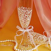 Свадебный салон ручной работы. Ярмарка Мастеров - ручная работа Свадебные Бокалы Абигаль. Handmade.