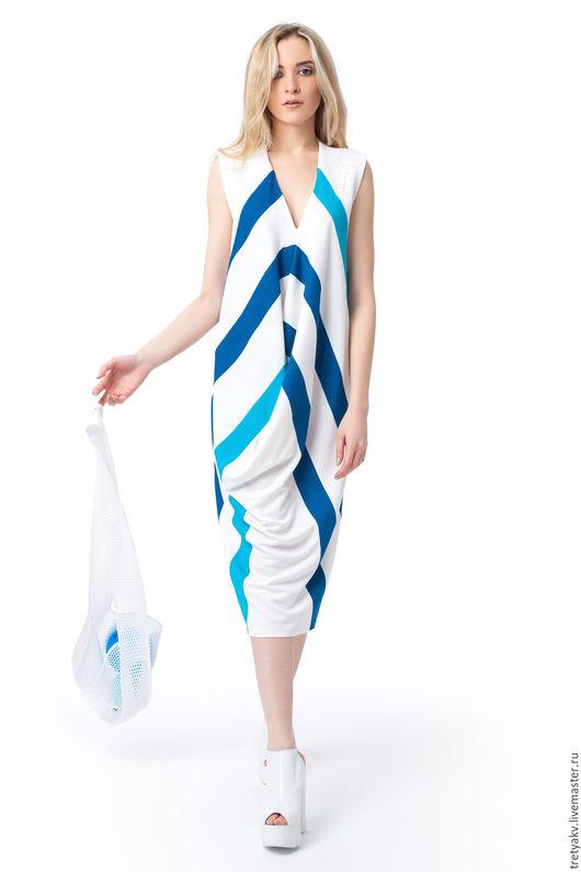 Платья ручной работы. Ярмарка Мастеров - ручная работа. Купить Платье MODAMODULE. Handmade. Белый, платье модное, платье легкое