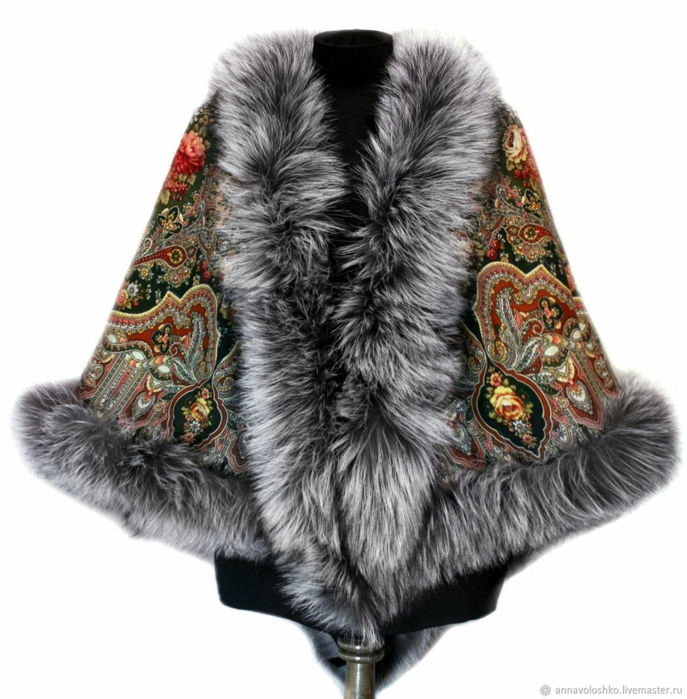 Pavlovo Posad shawl 'Almond', art.1064, Shawls1, Moscow,  Фото №1