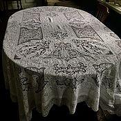 Продано Викторианская кружевная скатерть (покрывало)