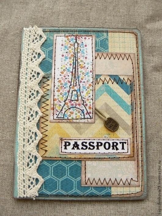 Обложки ручной работы. Ярмарка Мастеров - ручная работа. Купить обложка для паспорта. Handmade. Обложка на паспорт, Скрапбукинг, кардсток