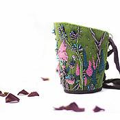 Украшения handmade. Livemaster - original item Cuff bracelet with original embroidery flowers Ringtone. Handmade.
