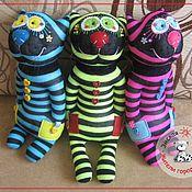 Куклы и игрушки ручной работы. Ярмарка Мастеров - ручная работа Кот кислотный. Игрушка из носка. Handmade.