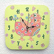 Для дома и интерьера handmade. Livemaster - original item Wall clock baby Bird of Happiness Ethnic, handmade watches. Handmade.
