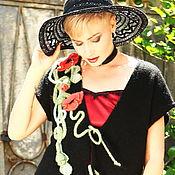 """Одежда ручной работы. Ярмарка Мастеров - ручная работа """" Маковая сказка"""" в черном цвете.Вязаный кардиган. Handmade."""