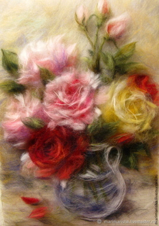 Pattern wool Bouquet of roses, Pictures, St. Petersburg,  Фото №1