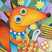 Картины и панно handmade. Livemaster - original item In the forest lives a Fox, Red sister. Handmade.