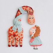 Украшения ручной работы. Ярмарка Мастеров - ручная работа Жираф и крошка девочка.(2). Handmade.