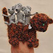 """Куклы и игрушки ручной работы. Ярмарка Мастеров - ручная работа Пальчиковый театр """"Мышки"""". Handmade."""