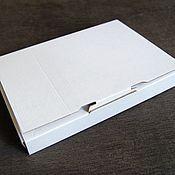 "Материалы для творчества ручной работы. Ярмарка Мастеров - ручная работа коробка ""Белый крафт-4"" для блокнота, 22х15х3 см. Handmade."