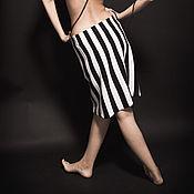 """Одежда ручной работы. Ярмарка Мастеров - ручная работа черно-белая юбка """"Дерзкая"""". Handmade."""