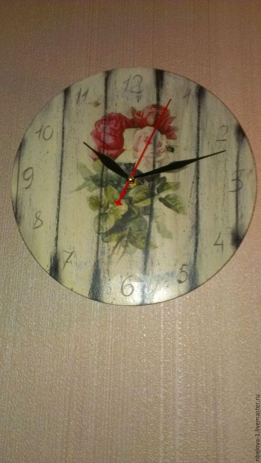 Часы для дома ручной работы. Ярмарка Мастеров - ручная работа. Купить часы кантри. Handmade. Подарок на любой случай, дерево