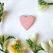 """Украшения ручной работы. Ярмарка Мастеров - ручная работа Брошь """"Сердце"""" розовое. Handmade."""