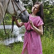 """Одежда ручной работы. Ярмарка Мастеров - ручная работа Розовое платье с запахом """"Лора"""". Handmade."""