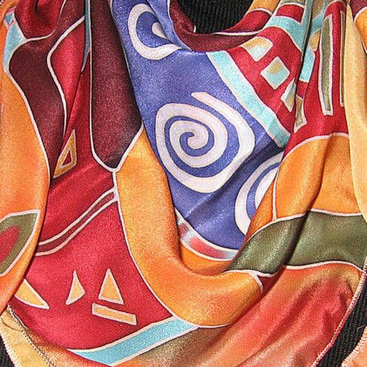 Шали, палантины ручной работы. Ярмарка Мастеров - ручная работа. Купить Африка. Handmade. Натуральный шелк, крепдешин