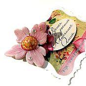 Украшения handmade. Livemaster - original item Small pink brooch - brooch - four leaf. Handmade.