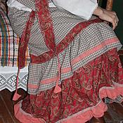 """Одежда ручной работы. Ярмарка Мастеров - ручная работа Юбка """"Серая клеточка""""  длинная бохо стиль кантри. Handmade."""