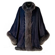 Одежда handmade. Livemaster - original item new! Poncho of Alpaca wool with fur of Fox. Handmade.