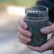Посуда ручной работы. Ярмарка Мастеров - ручная работа Подстаканник из войлока Снова в травы. Handmade.