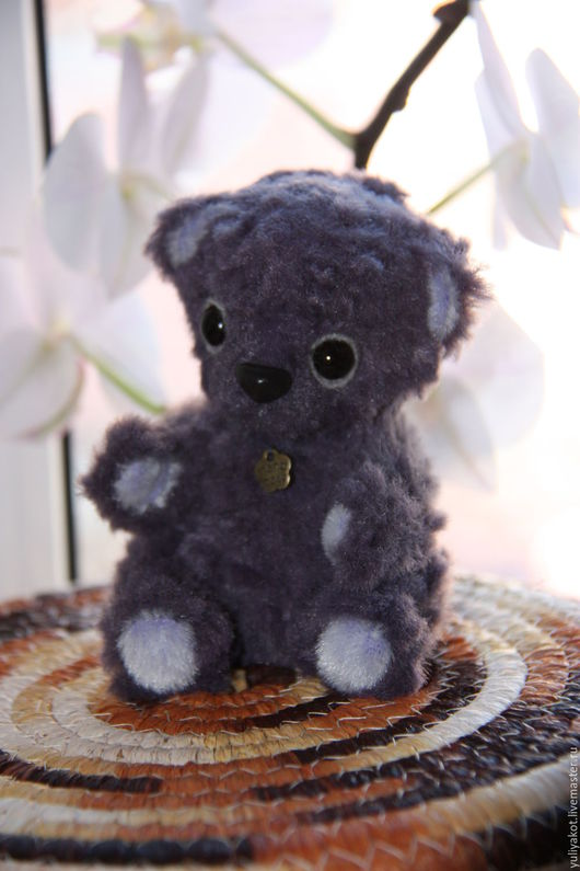 Мишки Тедди ручной работы. Ярмарка Мастеров - ручная работа. Купить Мишка Фил. Handmade. Тёмно-фиолетовый, коллекционные игрушки