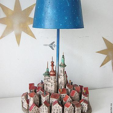 """Для дома и интерьера ручной работы. Ярмарка Мастеров - ручная работа Лампа """"Город"""". Handmade."""
